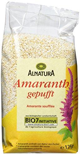 Alnatura Bio Amaranth, gepufft, glutenfrei, 6er Pack (6 x 125 g)