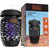 BLACK+DECKER Bug Zapper Electric Insect Control for Flies, Gnats, Mosquitoes & Others for Indoor & Outdoor Use Covers Up to 625 Square Feet