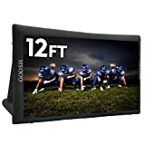 GOOSH 12 ft Inflatable Outdoor and Indoor Theater Projection Screen-The Inflatable Movie Screen Includes a 350W Inflatable Fan, Beautiful Packaging Bag,Blowing up The Giant Movie Projection Screen