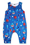 Ice Cream Cake Stars Romper For Baby Boys 6-12 Months Sleeveless Onesie Blue Bodysuit Toddler Baby...
