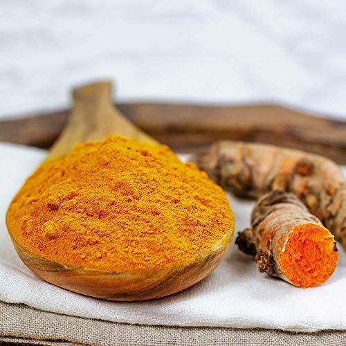HQOExpress | Organic Turmeric Powder w/natural Curcumin | USDA Certified & Lab Tested | 21 oz. Chef Jar