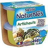 NESTLE NATURNES Petits Pots Bébé Artichauts - Dès 4/6 mois -2x130g