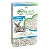 Carefresh 99% Dust-Free White Natural Paper Nesting Small Pet Bedding with Odor Control, 23 L