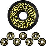 FZYJ Graffiti en línea Skate Wheels 90A Street Patinaje PU Ruedas 72mm 76mm 80mm para niños Adolescentes Ruedas Principiante patín de reemplazo Rueda (Color : 76mm)