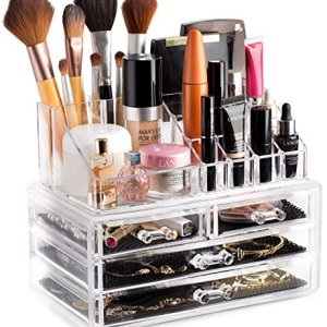 Clear Cosmetic Storage Organizer - Easily Organize Your Cosmetics, Jewelry and Hair Accessories. Looks Elegant Sitting… 3