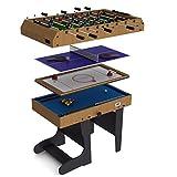 Riley - Table de Jeu pliable 4 en 1 - 12 jeux intégrés : air hockey, ping...