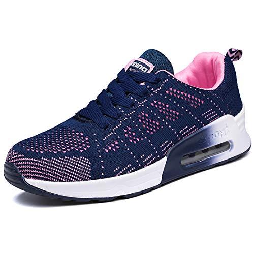 Zapatillas Deportivas Mujer Zapatos para Correr Mujer Bambas Ligero Mujer Calzado Deportivo Tenis Mujer Azul,37 EU