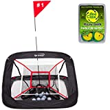Spornia XL Pro Golf Chipping Net- Outdoor/Indoor Golfing Practice Target Nets | Backyard Hitting Games for Men, Women, Kids