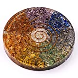 7 Chakra Orgone Healing Handmade Coaster for Drinks Bringing Growth and Stability in Life