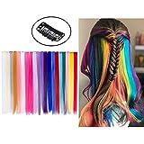 Extensión de pinza de pelo de color para niñas, accesorios para el cabello, 20 piezas, 20 colores, 20 ...