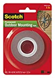 Heavy-Duty Exterior Mounting Tape, Holds 5 lb., 1'x60'