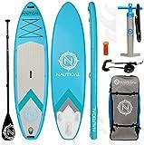 "iROCKER Nautical Inflatable Paddle Board (Aqua, 10'6"")"