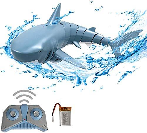 3T6B Giocattolo della Barca dello squalo telecomandato 2.4GHz, Giocattolo della Barca dello squalo telecomandato Simulazione elettrica, Regalo dello Stagno dei Bambini