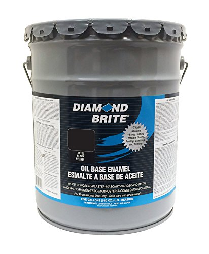 Diamond Brite Paint 31100 5-Gallon Oil Base All Purpose Enamel Paint  Black