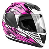 Typhoon Youth Full Face Motorcycle Helmet Kids DOT Street - Ships Same Day - Pink (Small)