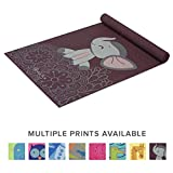 Gaiam Kids Yoga Mat Exercise Mat, Yoga for Kids with Fun Prints - Playtime for Babies, Active & Calm Toddlers and Young Children, Ears, 3mm