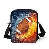Bigcardesigns Rugby Fashion Small Purse Mini Zipper Wallet Xmas Gift Messenger Bag Eco-Handbag for Kids Children