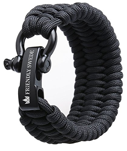 The Friendly Swede Paracord Armband, extra breit und...