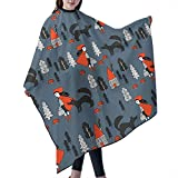Red Riding Hood -Grey Barber Salon Cape Polyester Haircut Apron Hair Cut Cape For Styling Hair Cut Hairdresser, 55' X 66'