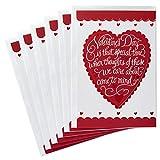Hallmark Valentines Day Cards Pack, Heart (6 Valentine Cards with...