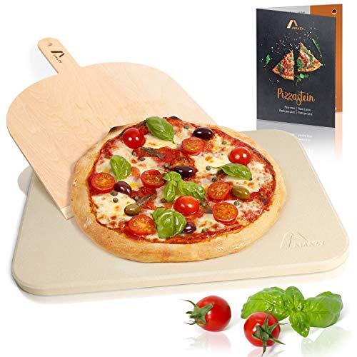 Amazy Pietra Refrattaria per Pizza da Forno, incl. PALA pizza e RICETTARIOPietra per Cottura Pizza...