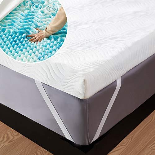 Bedsure Topper Singolo Memory Foam - Correttore Materasso 90x190 con Altezza 7cm, Materassi Sottili a 7 Zone con Rivestimento Traspirante e Lavabile