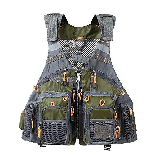 Lixada Fly Fishing Vest,Fishing Safety Life Jacket Breathable Polyester + EPE Foam/Mesh Design...
