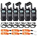 Retevis RT16 2 Way Radio walkie Talkie Long Range FRS NOAA FM Dual Watch VOX Flashlight 10 Call Tone Privacy Code Two Way Radio with Earpiece(6 Pack)