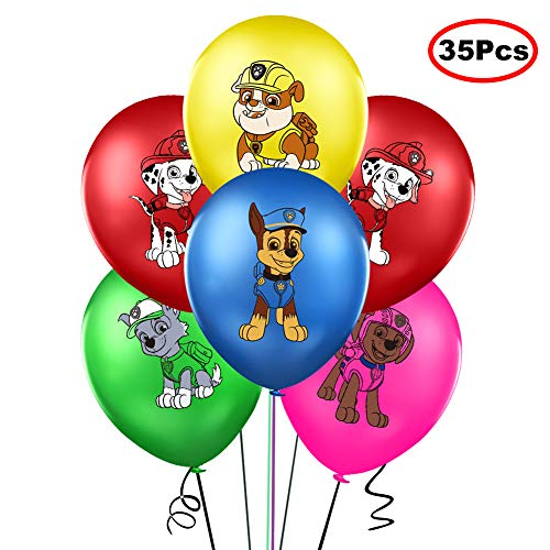 35PCS PAW Dog Patrol Balloons Party Supplies 12' Latex Balloons for Dog Theme Kids Baby Shower Birthday Party Decorations