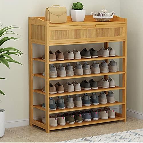 Zapatero Zapato de bambú simple Gabinete de zapatos Zapatos...