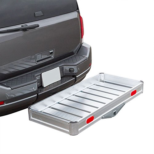 Discount Ramps Apex Hitch Cargo Carrier Tray Aluminum 550 lb. Capacity  Tray 49-1/8' L x 22-5/8' W x 4-3/4' H  Unique Slatted Surface Compatible with Class III or IV 2' Receivers