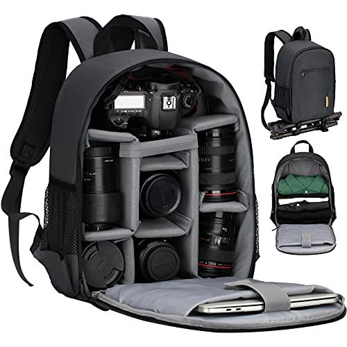 TARION TBS Sac à dos pour appareil photo Petit sac à dos pour appareil...