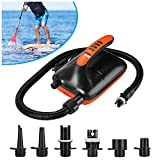 Air Pump, AGPTEK Electric Air Pump 20PSI Digital Electric Air Pump, 12V DC Car Connector, Intelligent Dual Stage & Auto-Off Function, Great for Paddle Boards, Inflatable Boats and Kayaks