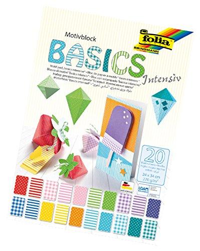 folia 48249 - Motivblock Basics Intensiv, 20 Blatt, ca. 24 x 34 cm - Grundlage für vielfältige...