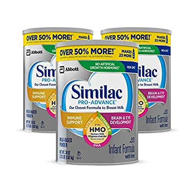 BRAND FOR IMMUNE SUPPORT: Similac Pro-Advance is the first infant formula with 2' FL HMO designed to be closer than ever to breast milk. (Based on pediatrician recommendations & IQVIA ProVoice survey 12 months ending February 2020; not from human mil...