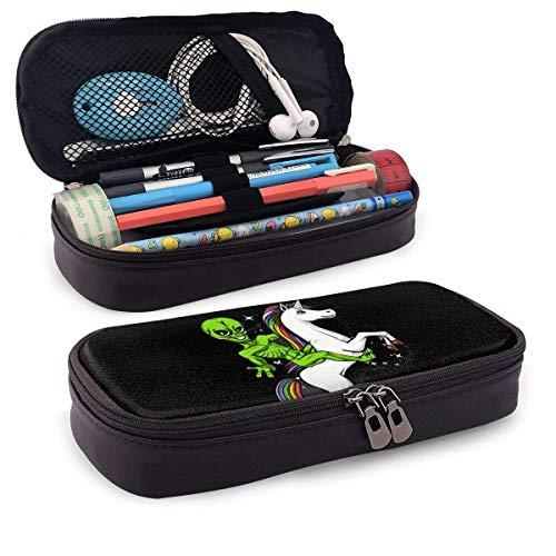Astuccio Alien Riding Unicorn On Art Pattern a tema Stampato Mini School Portamatite Tasca per ufficio Scatola per penne...