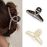 Runmi Lot de 2 pinces à cheveux avec perles