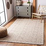 Safavieh Abstract Collection ABT961B Handmade Wool Area Rug, 8' x 10', Beige/Light Brown