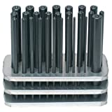 Spellmaco #3-17 28 Pc 3/32'- 1/2' x 64ths + 17/32' Transfer Punch (Spotter) Set