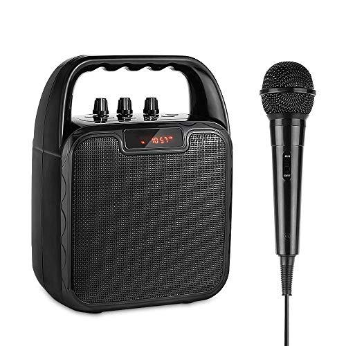 Karaoke Mikrofon, ARCHEER Tragbarer bluetooth Lautsprecher mit Mikrofon Mobile Sound Machine Sprachverstärker (bluetooth/USB/TF/AUX Slot,Ein anständiges Geschenk für Kinder)