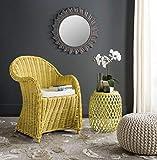 Safavieh Home Collection Callista Yellow Wicker Club Chair