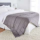 AmazonBasics All-Season Cotton Weighted Blanket - 20-Pound, 60' x 80' (Full/Queen), Dark Grey