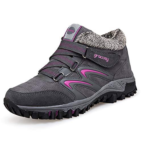 Gracosy Bottes de Neige Femme Filles, Chaussures de Sports Randonnée Hiver...