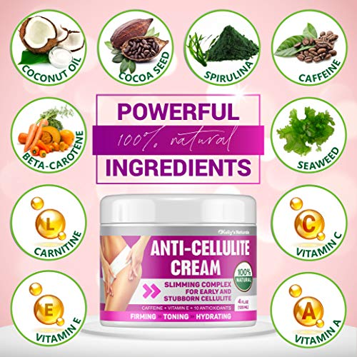 Cellulite Cream for 100% Complete Cellulite Removal - Made In USA - Hot Cream with Caffeine Cellulite Treatment - Slimming, Firming & Tightening - Works for Anti Cellulite Oil Massage & Workout Sweat 2