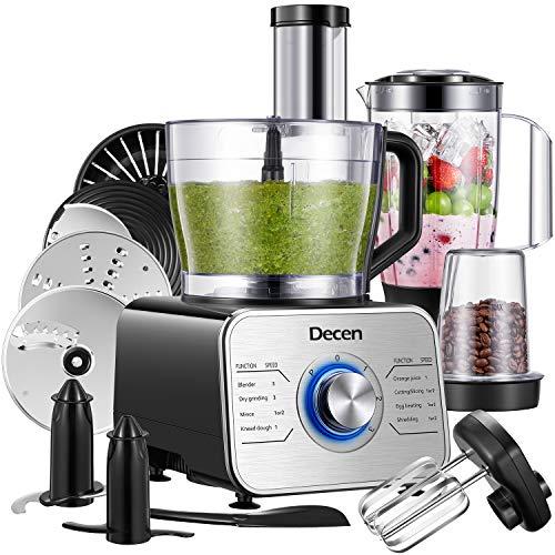 Robot da Cucina Multifunzione 1100W, 3 Velocita Funzione Impulso, 3,5L ( Includere Frullatore,...