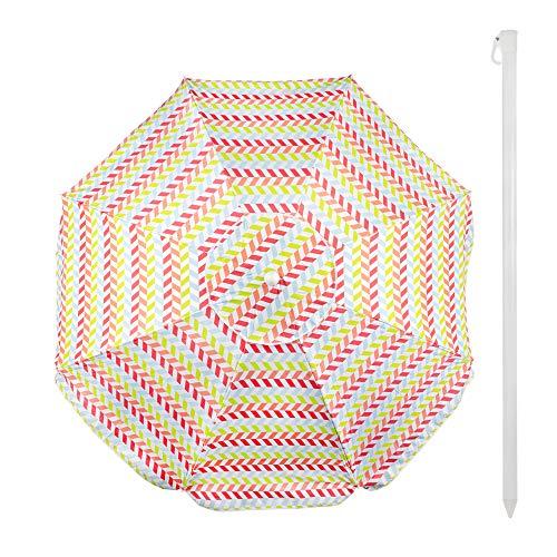 Aktive 62113 - Sombrilla playa 200 cm con protección UV50+