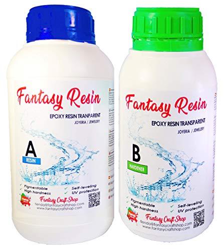 Fantasy Craft 0,75 Kg Resina Epoxi Totalmente Transparente,
