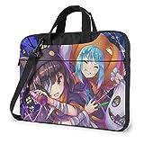 XCNGG KonoSuba Anime Laptop Hombro Messenger Bag Tablet Computadora Almacenamiento Mochila Bolso 15.6 Pulgadas