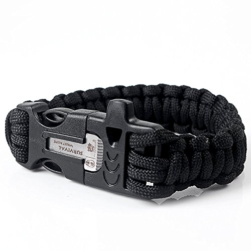 Paracord Universal Bracelet avec sifflet et allume-feu de la marque PRECORN...