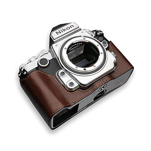 GARIZ Nikon Df用 本革カメラケース Gun Shot Ring付 XS-CHDFBR ブラウン